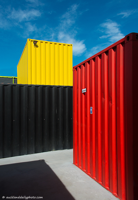 Colourful containers
