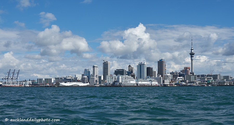 Auckland from the sea